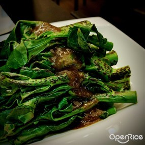 Charred vegetables (Chinese kale) - 灣仔的摩廚